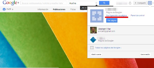 Eliminar Página Google Plus