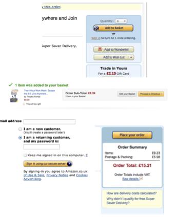 Carrito Compra Amazon