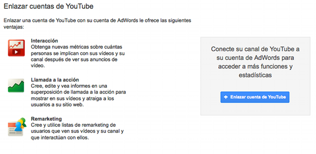 Enlazar Youtube y Adwords