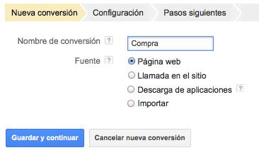 Código de conversiones