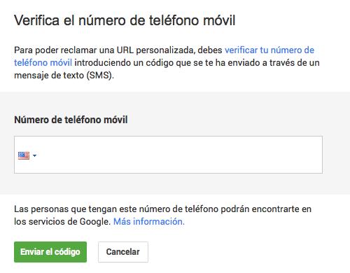Paso II URL unica Google Plus
