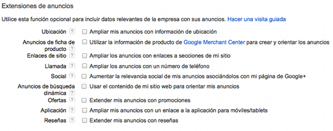 Extension Anuncios Adwords