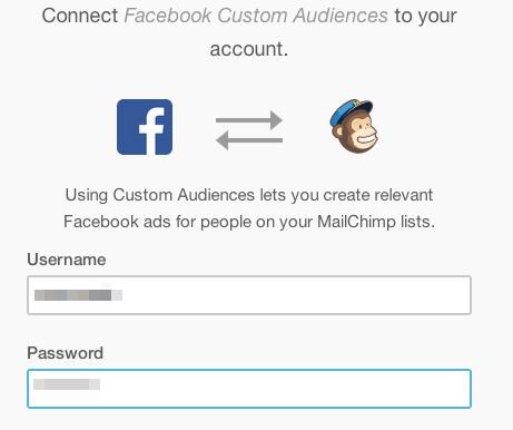 Conecta Facebook con Mailchimp