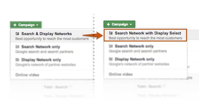 Red de búsqueda y Display Select
