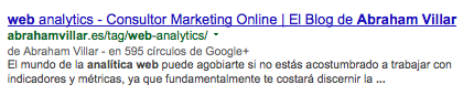 SERP Authorship sin foto
